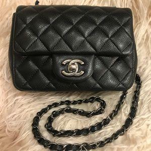 Chanel mini square classic flap bag